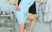 Naughty Head Nurse Helena Milf Aged Nurse Helena Opening Her Experienced Vulva Wide Naughty Head Nurse