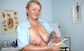 Naughty Head Nurse Radka Radka Old Aged Nurse Cooter Masturbation At Gyno Clinic With Speculum And Penis Toy Naughty Head Nurse