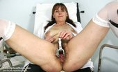 Naughty Head Nurse Karin Karin Old Milf Nurse Pussy Masturbation At Gyno Clinic With Gyno Tool And Penis Toy Naughty Head Nurse