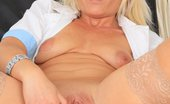Naughty Head Nurse Simira The Beautiful Blonde Milf Simira Fucks Her Twat With A Plastic Cock In Nurse Practitioner Uniforms Naughty Head Nurse
