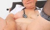 Naughty Head Nurse Berta Berta Masturbates In Addition To A Plastic Speculum While Wearing Sexy Uniforms Naughty Head Nurse