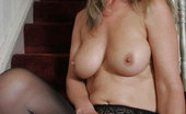 Stocking Aces Sexy Blonde MILF Strips Out Of Her Stockings Stocking Aces