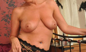Stocking Aces Sexy Marlyn Teases In A Black Babydoll And Stockings Stocking Aces