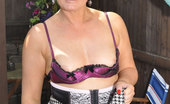 Stocking Aces MILF Gives Her Neighbours A Look At Her Hot Body Stocking Aces