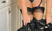 Stocking Aces Blonde Babe Dressed In A Maid'S Outfit Stocking Aces