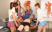 CFNM 18 Five Schoolgirls Undress Their Teacher And Enjoy CFNM Orgy CFNM 18