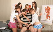 CFNM 18 5 Schoolgirls Force Their Male Teacher During CFNM Class CFNM 18