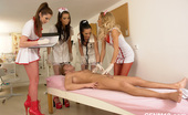 CFNM 18 CFNM Medical Exam With Four Horny Cock-Starved Nurses CFNM 18