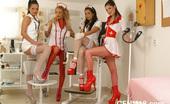 CFNM 18 Pics Of Medexam Performed By Four Sexy CFNM Nurses CFNM 18