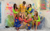 CFNM 18 5 Amateur Teens Paint Their Room And Enjoy CFNM Orgy With A Neigbour CFNM 18