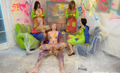 CFNM 18 Five Amateur Teens Paint Their Room And Undress Their Male Neighbour CFNM 18