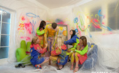 CFNM 18 Innocent Room Painting Turns Into Wild And Unruled CFNM Orgy CFNM 18