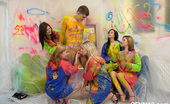 CFNM 18 Wall Painting With 5 Naughty Teens Ends With CFNM Sex Fun CFNM 18
