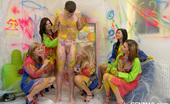 CFNM 18 472368 CFNM Photos Of Real Amateur Teens Painting Their Room And Stripping A Guy CFNM 18