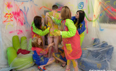 CFNM 18 Fully Clothed Teen Girls Painting Walls And Having CFNM Fun CFNM 18