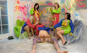 CFNM 18 472378 Dressed And Sexy Teens Strip Their Male Friend For CFNM Fun CFNM 18