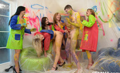 CFNM 18 Dressed And Sexy Teens Strip Their Male Friend For CFNM Fun CFNM 18