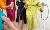 CFNM 18 Unlucky CFNM Voyeur Spies On Girls Showering & Gets Punished CFNM 18