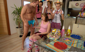 CFNM 18 Lucky Male Stripper Gets His Dick Sucked By CFNM Teens CFNM 18