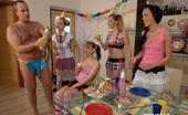 CFNM 18 Girls Give A CFNM Present To Their 18yo Teen Friend CFNM 18