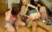 CFNM 18 Lucky Guy Fucked By His Gf And Her CFNM Roommates CFNM 18