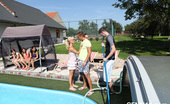 CFNM 18 472485 2 Pool Cleaning Guys Get Invited To Join CFNM Fun CFNM 18