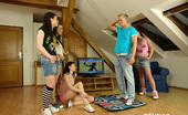 CFNM 18 Clothed Teen Girls Sexually Punish Their Roommate CFNM 18