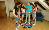 CFNM 18 Horny CFNM Girls Fucking A Guy After Playing Dance Game CFNM 18
