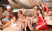 CFNM 18 Naked Santa Clauses @ Teen Christmas Party CFNM 18