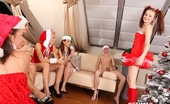 CFNM 18 Crazy Teens Sucking On Santa Clauses Cocks CFNM 18