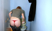 Holey Fuck Eva Redhead Girl Enjoys A Big Surprise Erection Trough The Wall Holey Fuck