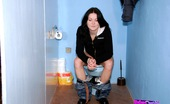 Holey Fuck Petra Brunette Girl Sucking A Stiffy Penis On A Public Toilet Holey Fuck