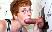 Holey Fuck Bunny Cute Mature Redhead Sucks A Big Dick Through A Gloryhole Holey Fuck