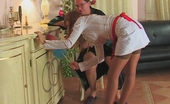 Horny Old Gents Alice & Leonard Sex-Crazy Older Male Makes Young French Maid Drunk And Ready For Dicking Horny Old Gents