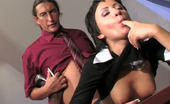 Horny Old Gents Subrina & Morgan Hot Older Businessman Getting A Taste Of Sweet Girlish Pussy At Lunch Break Horny Old Gents
