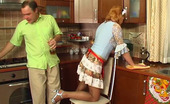 Horny Old Gents Christina & Hubert French Maid Makes Passes At Her Older Boss Sucking And Jumping On Pecker Horny Old Gents