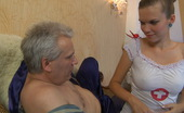 Horny Old Gents Cecilia & Caspar Naughty Young Nurse Cures Her Old Patient With Muff-Diving And Cock-Riding Horny Old Gents