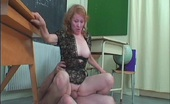 Grandpa Bangs Grandma Sofya & Richard Strict Teacher Sofya Canes Her Mature Student On His Bottom Grandpa Bangs Grandma