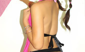 Tera Lee 473617 Ponytail Baby Like seeing Tera in a ponytail? Wait until you see the poses she make on the bed. Tera Lee
