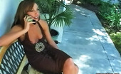 Pure Smoking Smoker Chats On Phone0Sultry Siren Tiffany Sits On The Bench Smoking While On The Telephone Pure Smoking