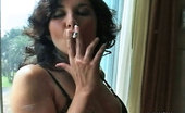 Pure Smoking The Curls Of A Smoker 0Curly Haired Zoe Britton Smokes In Her Black Lingerie Pure Smoking