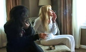 Pure Smoking Naughty And Nice SmokersA Blonde And A Brunette Enjoy Their Cigarettes Pure Smoking