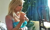 Pure Smoking Tasty Cigarettes1Blonde Bombshell Cory Lane Sits On Her Couch And Enjoys The Taste Of Her Cigarette Pure Smoking