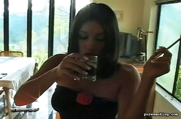 Pure Smoking 473949 Meghan Smokes And Flirts With YouTantalizing Brunette Meghan Knows You Are Watching As She Coyly Smokes Cigarettes And Tortures You With Seductive Looks Pure Smoking