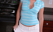 Alyssa Roxi Alyssa Loves To Tease In Her Short White Skirt And Tiny Blue Thong Alyssa Roxi