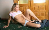 AV Erotica Lesia Curly Sexy Blonde In Cotton Panties AV Erotica
