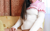 AV Erotica Paris Full Breasted Brunette Babe In A Sweater Bottomless AV Erotica