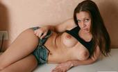 AV Erotica 475824 Paris Petite Brunette With Puffy Nipples Shows Her Pussy And Anus AV Erotica