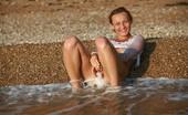 AV Erotica Kamelia Bottomless Busty Beautiful Babe Getting Wet In The Sea AV Erotica