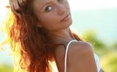 AV Erotica Kesy Petite Curly Redhead Teen Kesy Stripping Outdoors AV Erotica